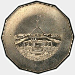 1988 Pattern Fifty Cent reverse