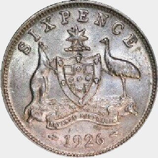 1925 Proof Sixpence reverse