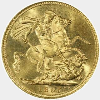 1895-S  Full Sovereign reverse