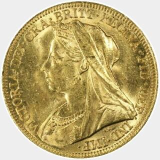 1895-S  Full Sovereign obverse