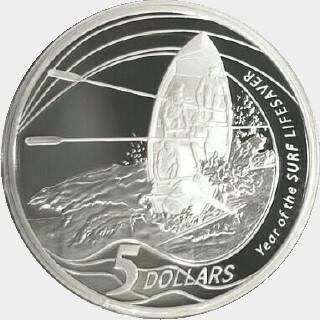 2007 Proof Five Dollar reverse