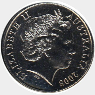 2008  Twenty Cent obverse