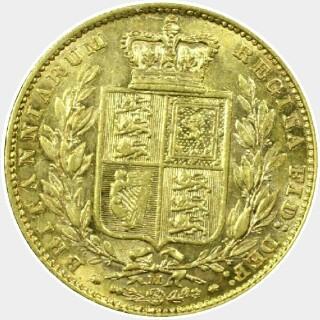 1883-M  Full Sovereign reverse