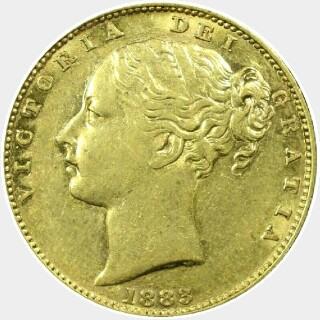 1883-M  Full Sovereign obverse