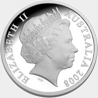 2008 Gold Overlaid One Dollar obverse