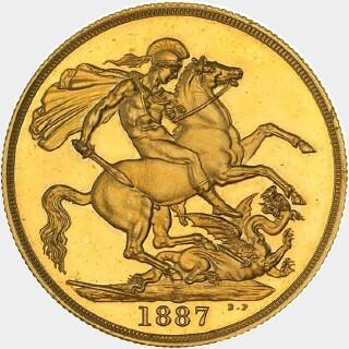 1887-S Plain Edge Pattern Two Pound reverse