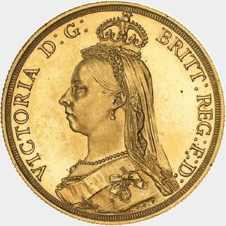 1887-S Plain Edge Pattern Two Pound obverse