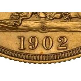 S mintmark on a Sydney mint strike
