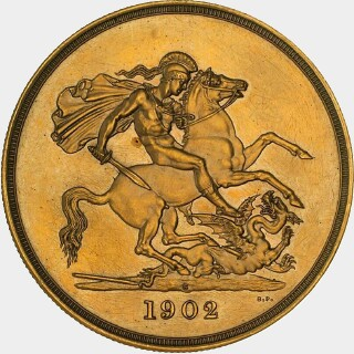 1902-S Pattern Five Pound reverse