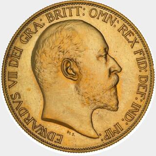 1902-S Pattern Five Pound obverse