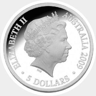 2009 Proof Five Dollar obverse