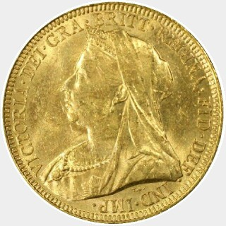 1893-S  Full Sovereign obverse