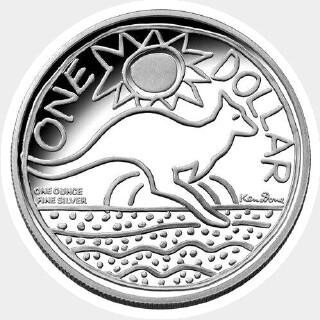 2009 Gold Overlaid One Dollar reverse
