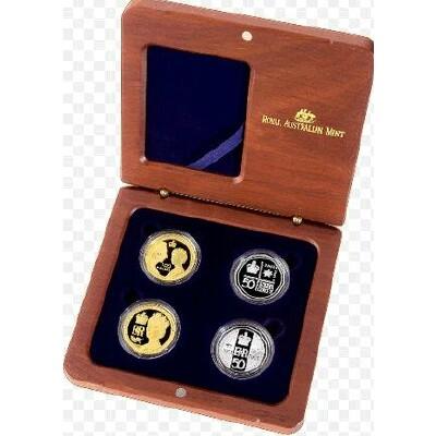 Golden Jubilee 4 Coin Set