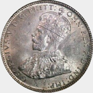 1927 Proof Shilling obverse