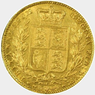 1887-M  Full Sovereign reverse