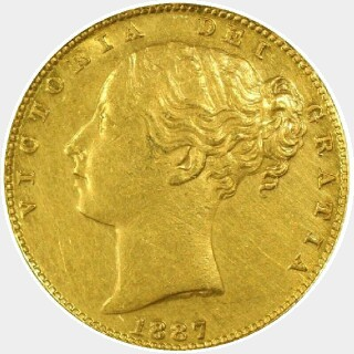 1887-M  Full Sovereign obverse