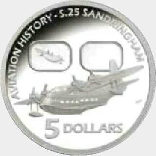 2010 Proof Five Dollar reverse