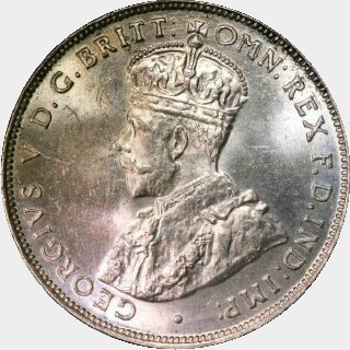 1925 Proof Florin obverse