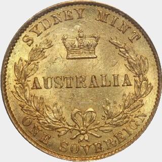 1866  Full Sovereign reverse