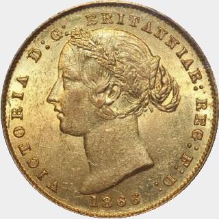 1866  Full Sovereign obverse
