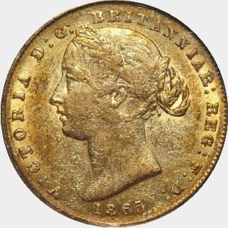 1865  Full Sovereign obverse
