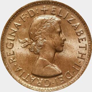 1961-Y  Half Penny obverse