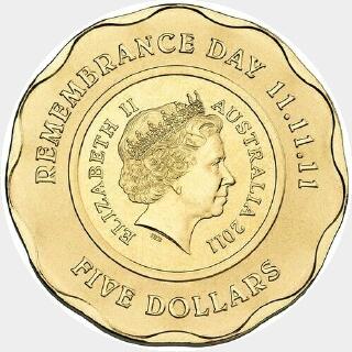 2011  Five Dollar obverse