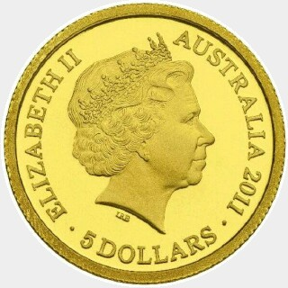 2011 Proof Five Dollar obverse