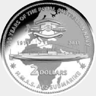 2011 Proof Two Dollar reverse