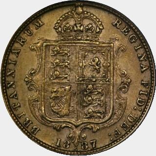 1887-S Medium JEB Half Sovereign reverse