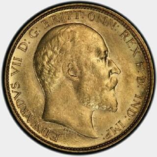 1908-M  Half Sovereign obverse