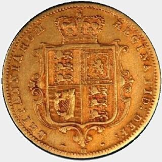 1882-M Truncated Bust Half Sovereign reverse
