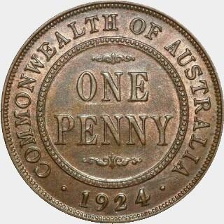 1924  Penny reverse