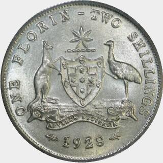 1928  Florin reverse
