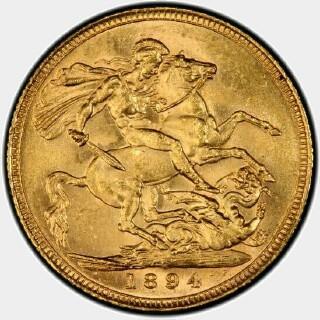 1894-S  Full Sovereign reverse