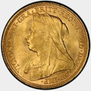 1894-S  Full Sovereign obverse