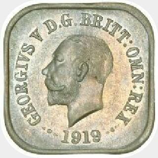 1919 Type 6 Penny obverse