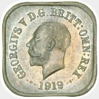 1919 Type 6a Penny obverse