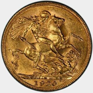 1920-M  Full Sovereign reverse