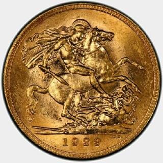 1929-M  Full Sovereign reverse