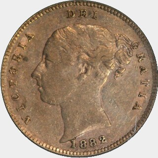1882-M Low Relief Half Sovereign obverse