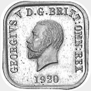 1920 Type 9 Penny obverse