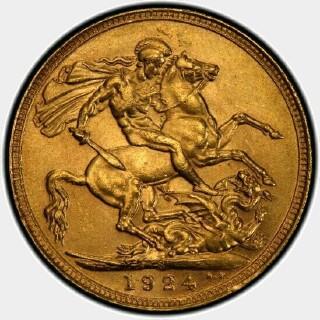 1924-S  Full Sovereign reverse