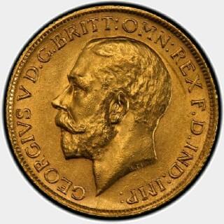 1924-S  Full Sovereign obverse