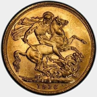 1916-M  Full Sovereign reverse