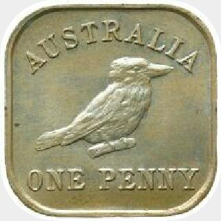 1921 Type 12 Penny reverse