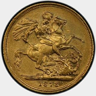 1878-M Narrow Truncation Long Tail Full Sovereign reverse