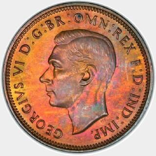 1939 Proof Half Penny obverse