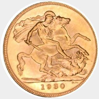 1930-M  Full Sovereign reverse